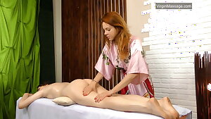Szilvia a virgin babe from Hungary groped