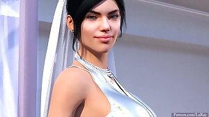 Lisa the hot white bride interracial