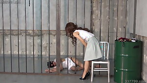 BDSM sub whipped and spanked by dominatrix