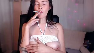EXTREME FETISH! Smoking Mummy with milk packed tits!