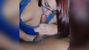 Who wouldn't want this redhead suck his dick?