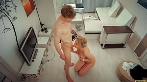 TUTOR4K. Guy doesn't pay tutor for lesson but just bangs her