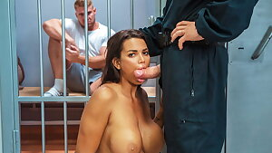 LAW4k. Having vagina screwed hard by cops in front of BF