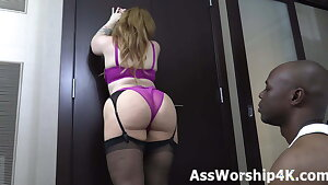 Adoring Mistress Lily Lane's flawless ass