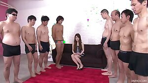 Thick thick cocks attack Ria pretty little mouth leaving her soaking wet