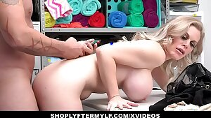 Steaming MILF Thief Caught Stealing And Fucked
