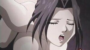 MILF slut gets fucked rigid in gangbang - Hentai.xxx