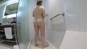 Grandma's amazing body in the shower