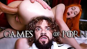 Meet Elin Flame as Lady Sansa assfucked by her furious midget husband Tyrion Fuckister in #GameOfPorn hardcore sex parody from Jean-Marie Corda