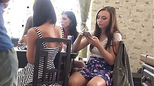 No Underpants Upskirt Dreams with 4 Super-steamy Sexy Girls Wedgies