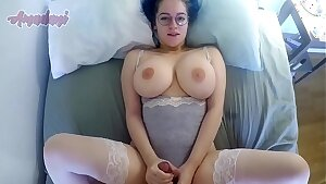 Busty babe showing off her thick jugs while getting fucked - Amadani