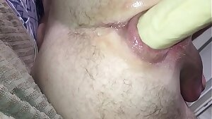 Anus suction cup and dildo anal fuck