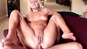 Young blonde slut in rosy outfit Staci Thorn needs to outlast double penetration and double buttfuck activity to get her reward in the form of creampie leaking out of her gaping brown-eye