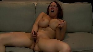 Big Titty Cockslut Fingers Her Cunt