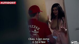 LETSDOEIT - Pizza Delivery Guy Gets Fortunate With His Beloved Pornstar
