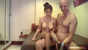 Thai Hooker With Big Faux Udders Gets Fucked By Giant Dick