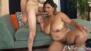 Jeffs Models - Fat Latina Lady Spice Blowjob Compilation 4