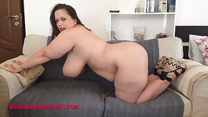 Romanian BBW with huge tits and plush assets